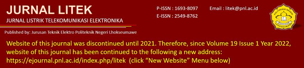 Jurnal Litek : Jurnal Listrik Telekomunikasi Elektronika